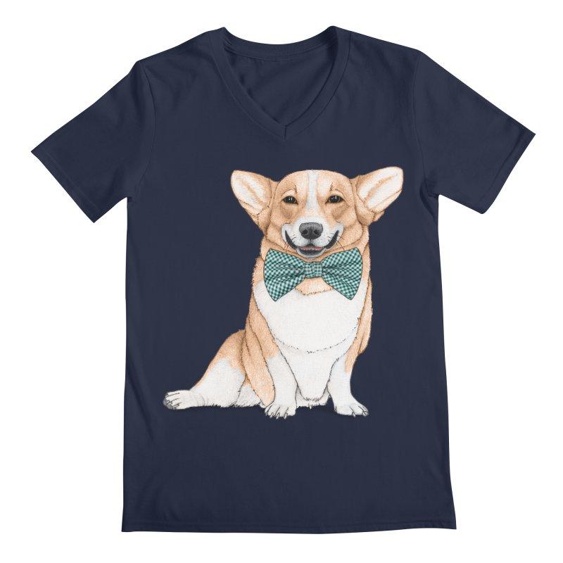 Corgi Dog Men's V-Neck by Barruf
