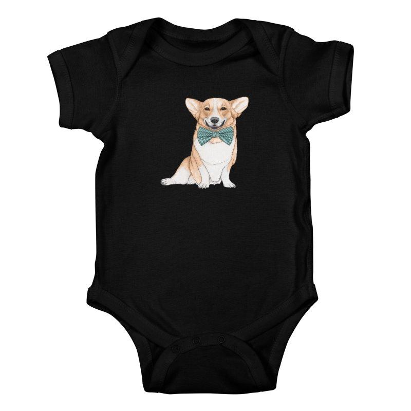 Corgi Dog Kids Baby Bodysuit by Barruf