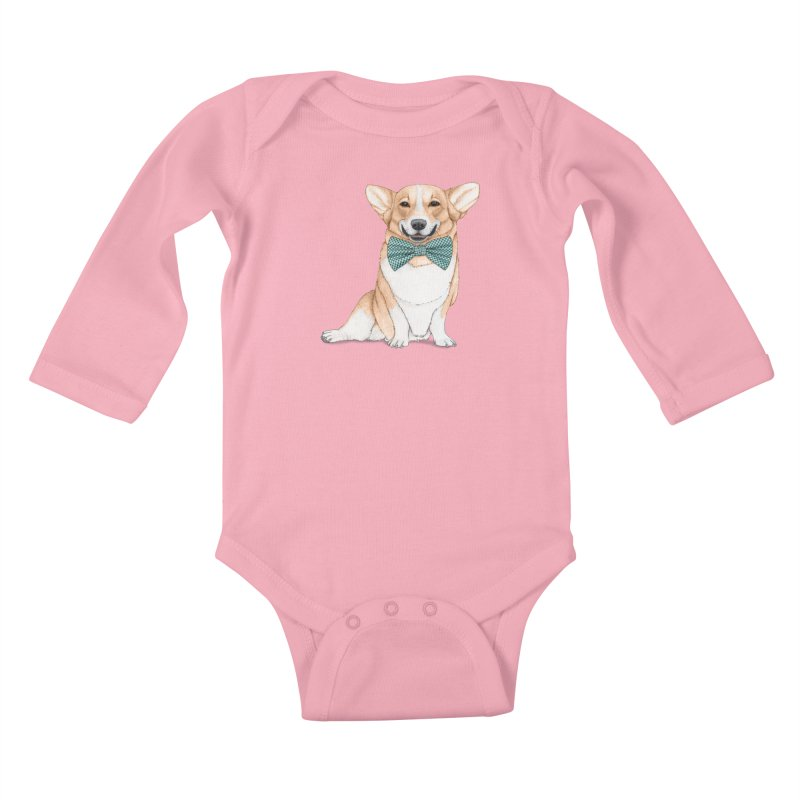 Corgi Dog Kids Baby Longsleeve Bodysuit by Barruf
