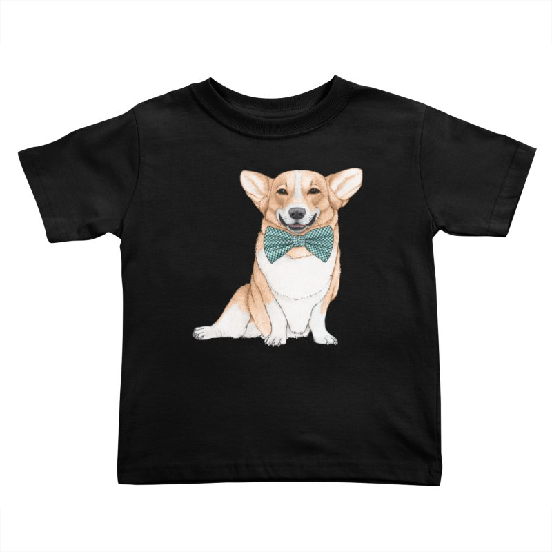Corgi Dog Kids Toddler T-Shirt by Barruf