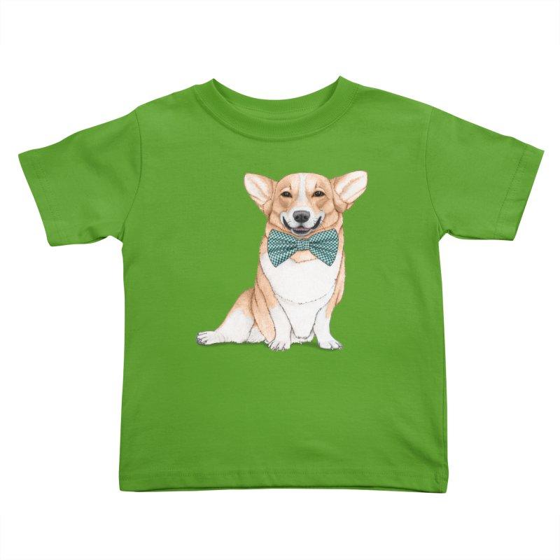 Corgi Dog Kids Toddler T-Shirt by Barruf