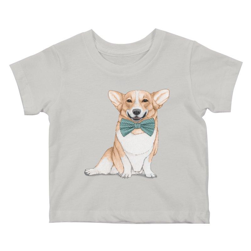 Corgi Dog Kids Baby T-Shirt by Barruf