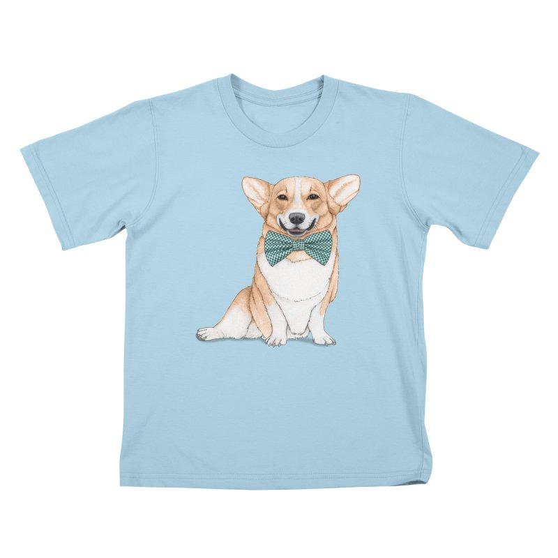 Corgi Dog Kids T-Shirt by Barruf