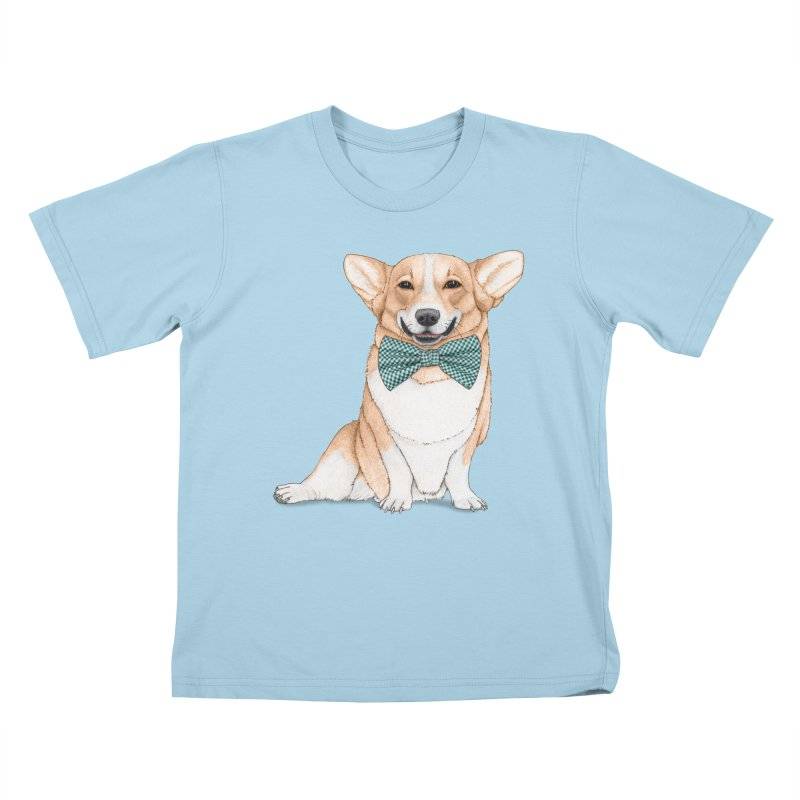 Corgi Dog Kids T-shirt by Barruf