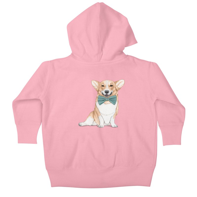 Corgi Dog Kids Baby Zip-Up Hoody by Barruf