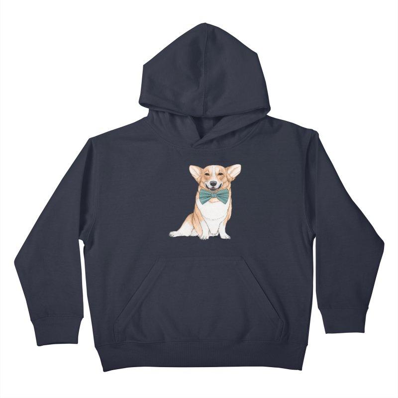 Corgi Dog Kids Pullover Hoody by Barruf