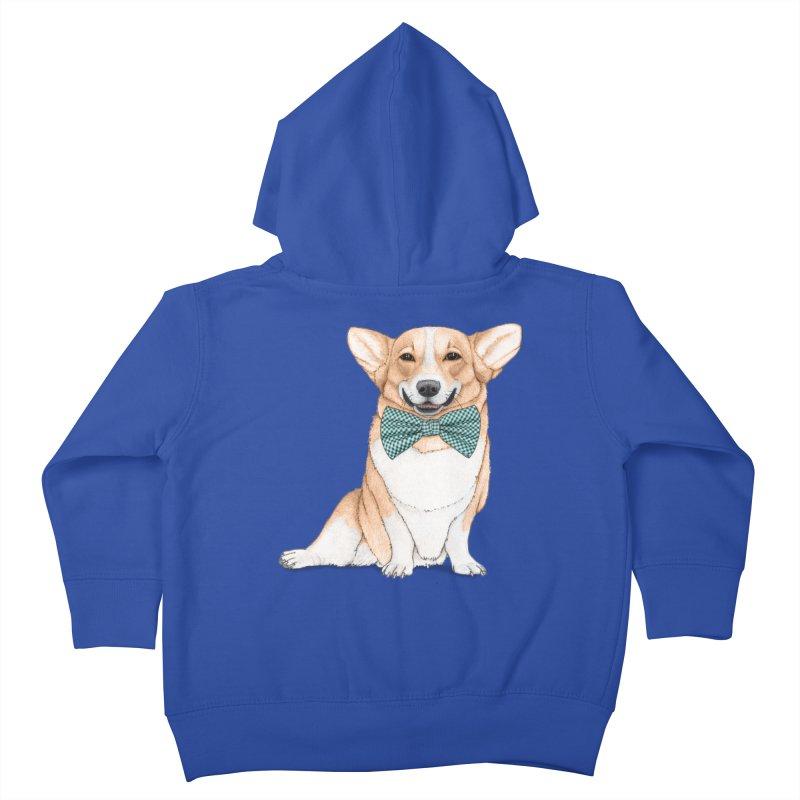 Corgi Dog Kids Toddler Zip-Up Hoody by Barruf