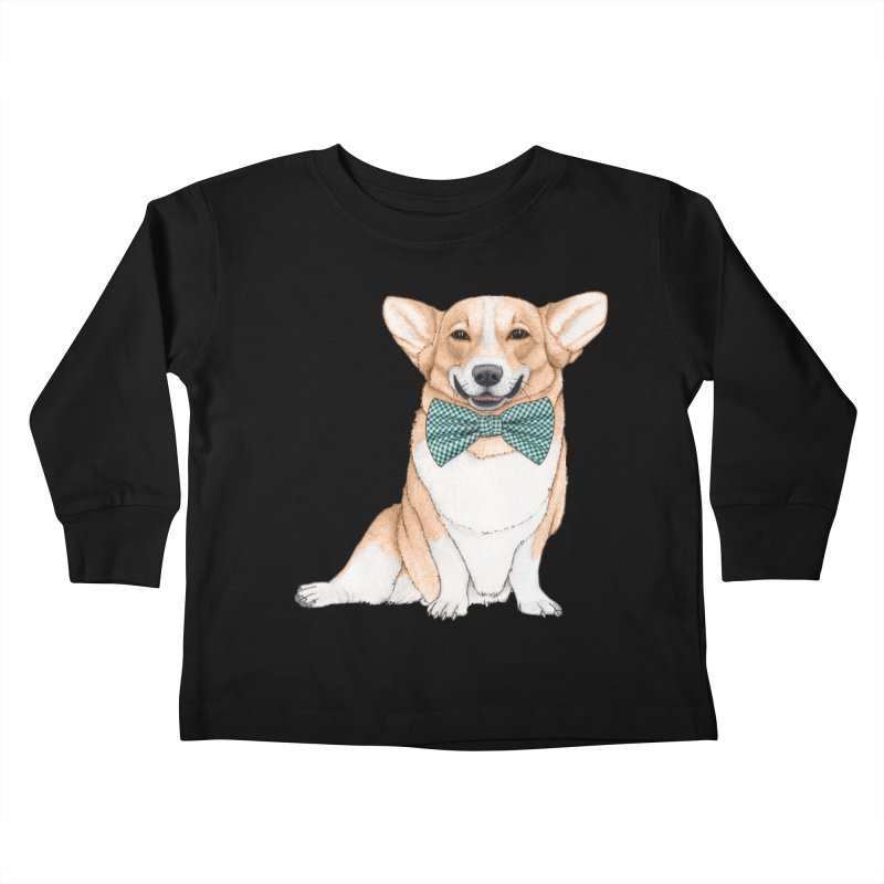 Corgi Dog Kids Toddler Longsleeve T-Shirt by Barruf