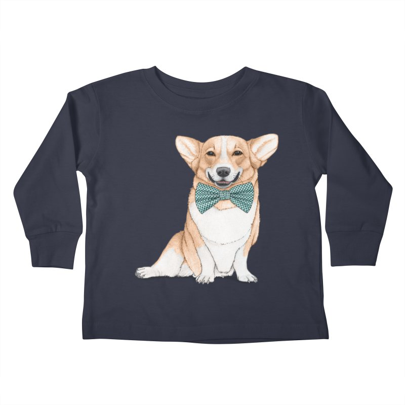 Corgi Dog Kids Toddler Longsleeve T-Shirt by Barruf