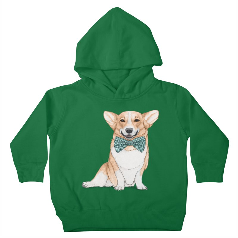 Corgi Dog Kids Toddler Pullover Hoody by Barruf