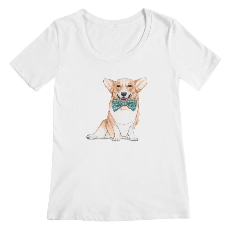Corgi Dog Women's Scoopneck by Barruf