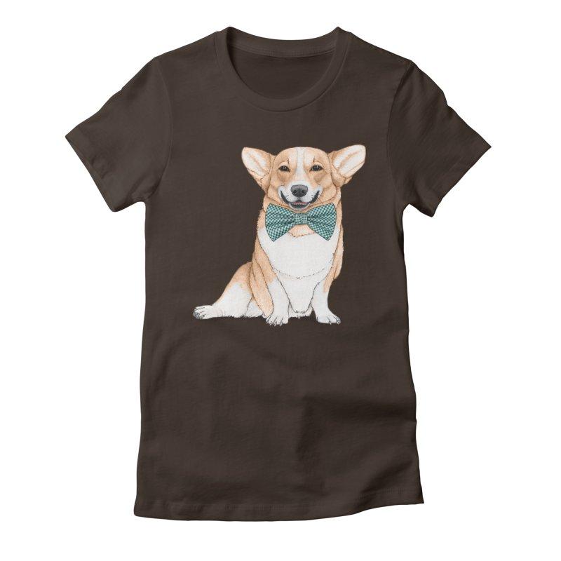 Corgi Dog Women's Fitted T-Shirt by Barruf