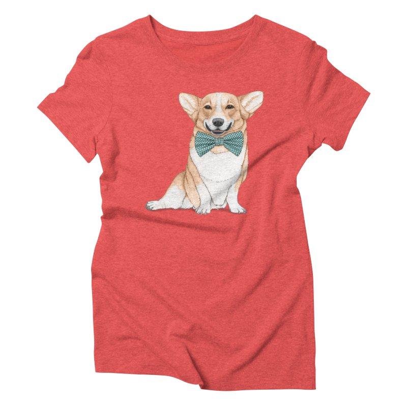 Corgi Dog Women's Triblend T-Shirt by Barruf
