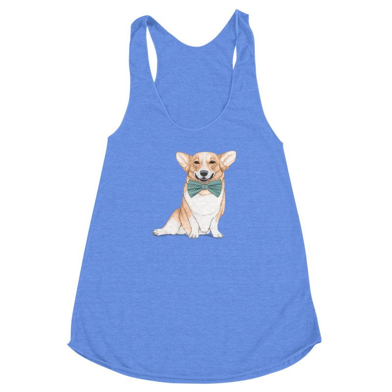 Corgi Dog Women's Racerback Triblend Tank by Barruf