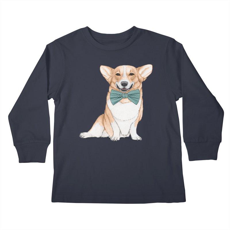 Corgi Dog Kids Longsleeve T-Shirt by Barruf