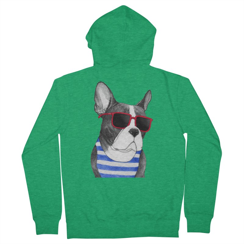 Frenchie Summer Style Men's Zip-Up Hoody by Barruf