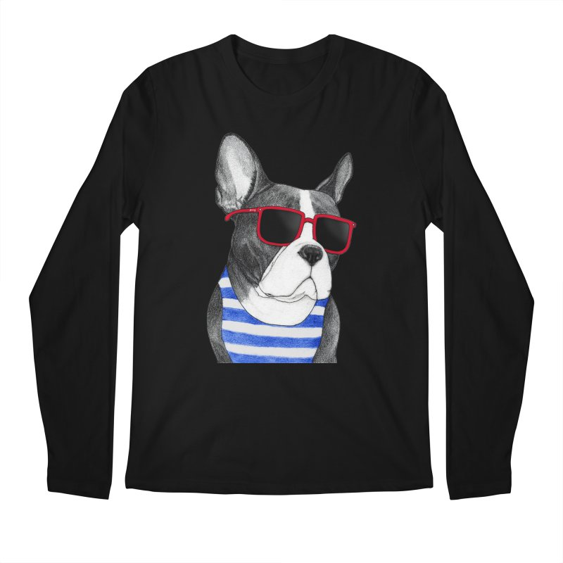 Frenchie Summer Style Men's Longsleeve T-Shirt by Barruf