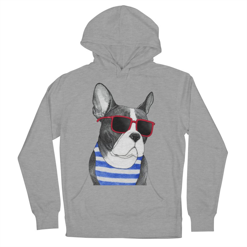 Frenchie Summer Style Women's French Terry Pullover Hoody by Barruf