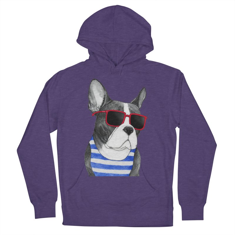 Frenchie Summer Style Men's French Terry Pullover Hoody by Barruf