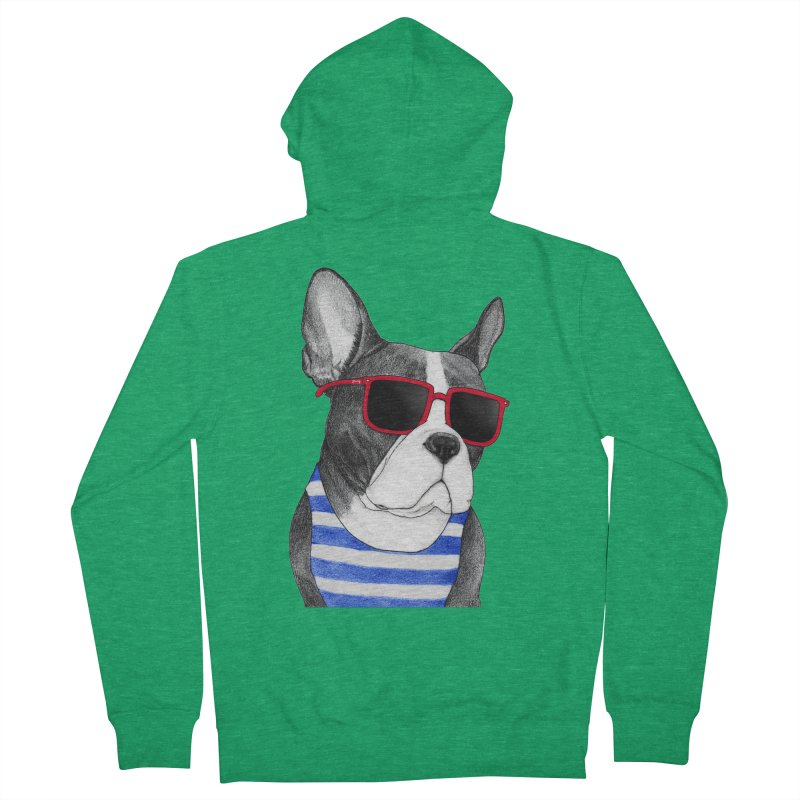 Frenchie Summer Style Women's French Terry Zip-Up Hoody by Barruf