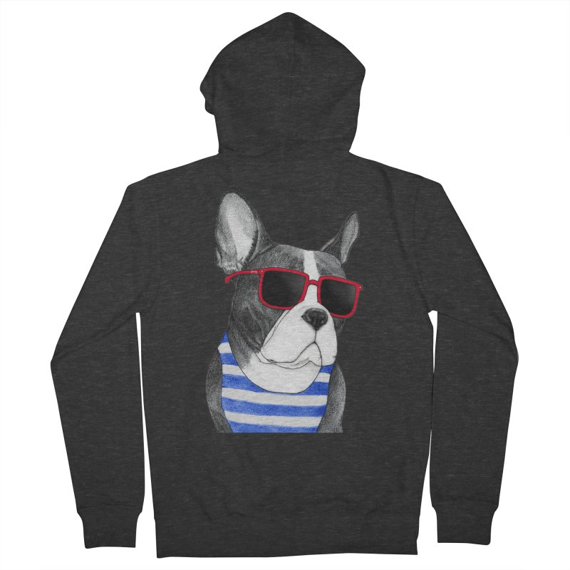 Frenchie Summer Style Men's French Terry Zip-Up Hoody by Barruf