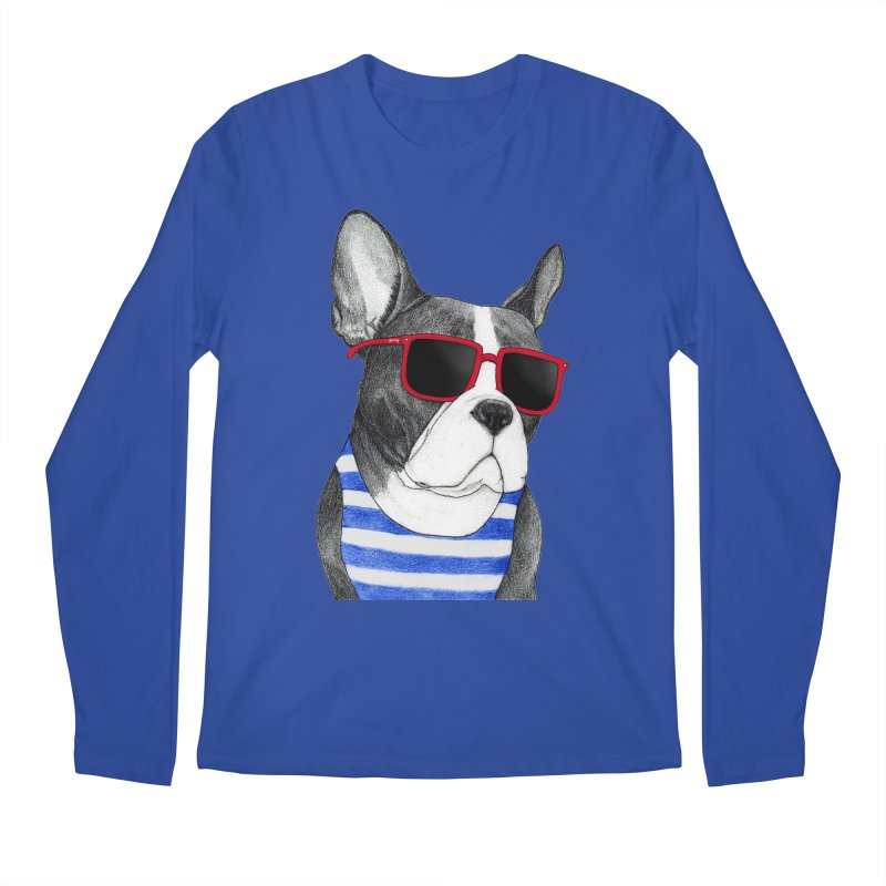 Frenchie Summer Style Men's Regular Longsleeve T-Shirt by Barruf