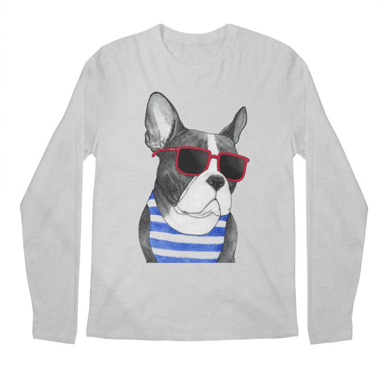 Frenchie Summer Style Men's Regular Longsleeve T-Shirt by Barruf
