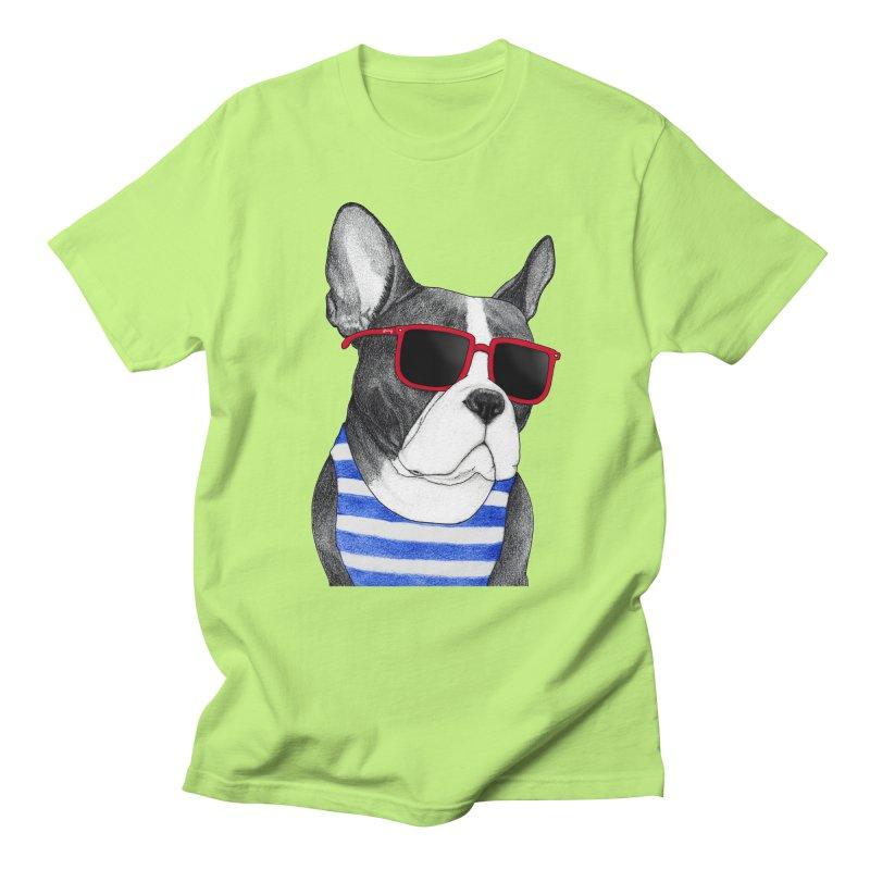 Frenchie Summer Style Men's Regular T-Shirt by Barruf