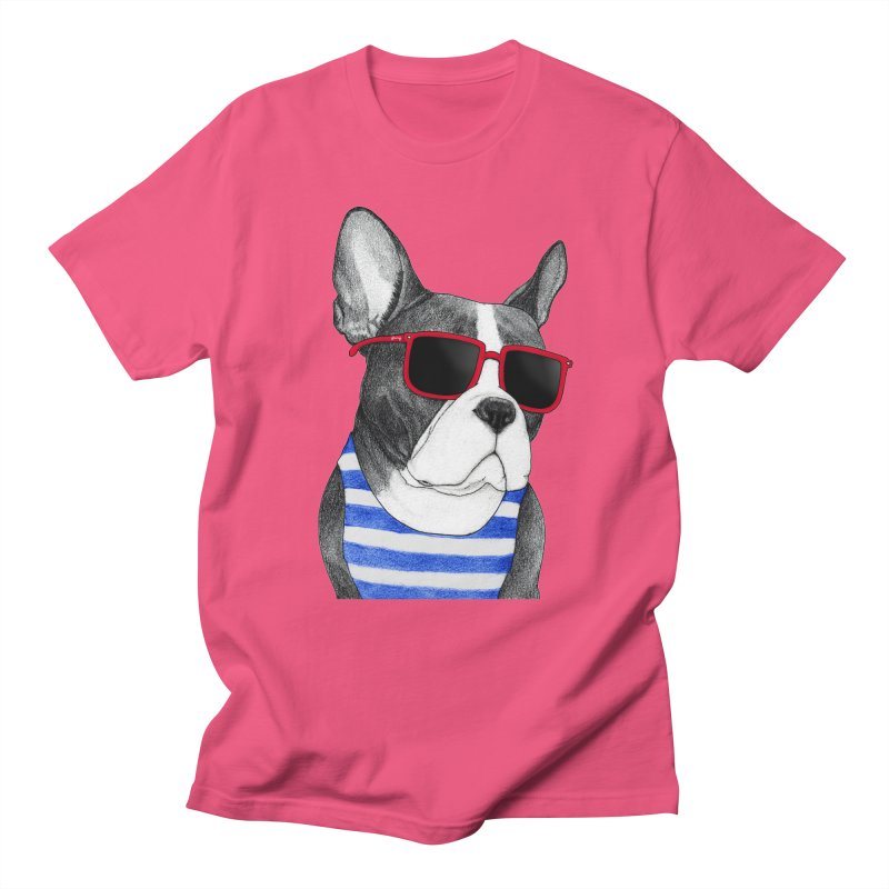 Frenchie Summer Style Men's Regular T-Shirt by Barruf