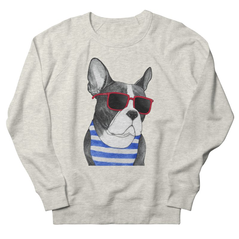Frenchie Summer Style Women's French Terry Sweatshirt by Barruf