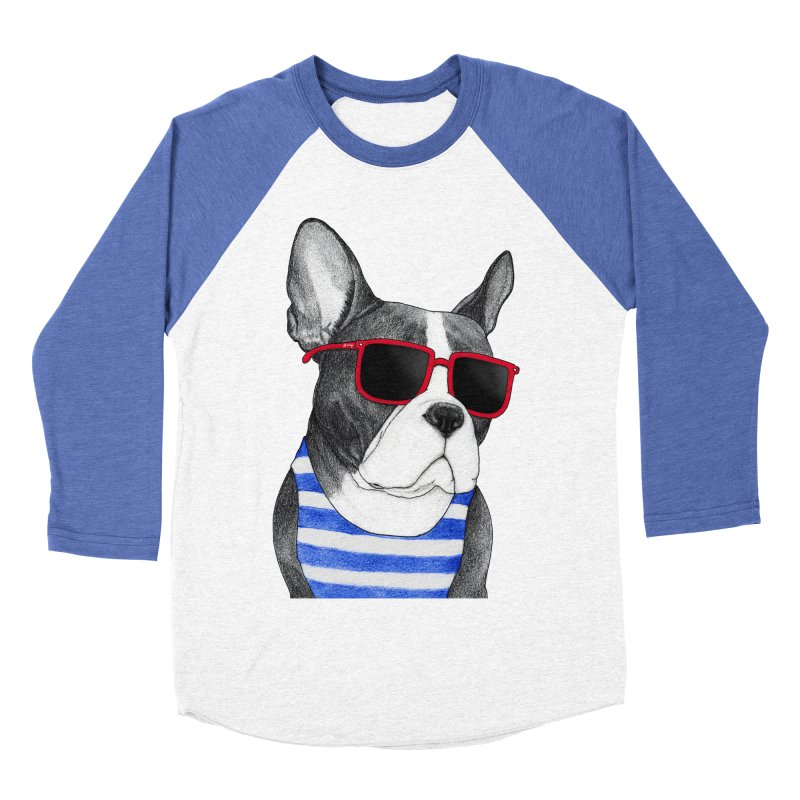 Frenchie Summer Style Women's Baseball Triblend T-Shirt by Barruf