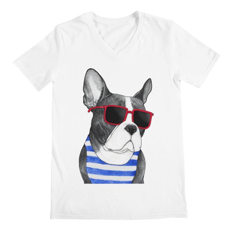 Frenchie Summer Style Men's Regular V-Neck by Barruf