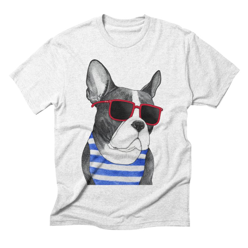 Frenchie Summer Style Men's Triblend T-shirt by Barruf