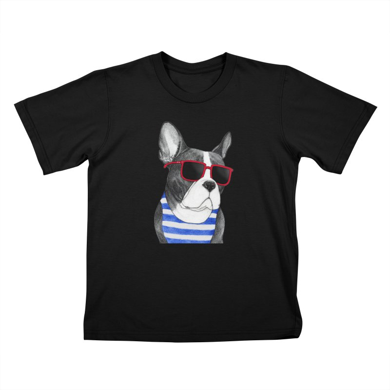 Frenchie Summer Style Kids T-Shirt by Barruf