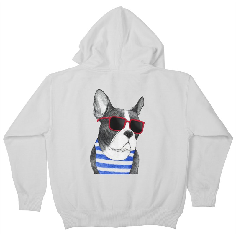 Frenchie Summer Style Kids Zip-Up Hoody by Barruf