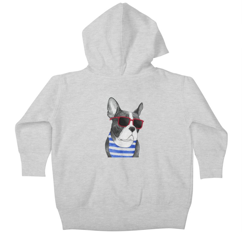 Frenchie Summer Style Kids Baby Zip-Up Hoody by Barruf