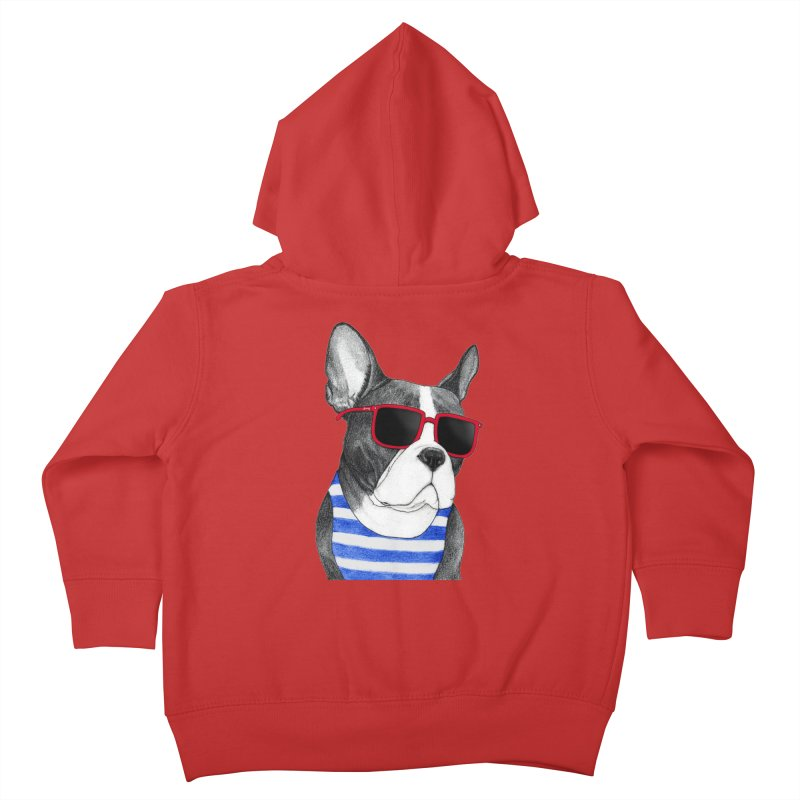 Frenchie Summer Style Kids Toddler Zip-Up Hoody by Barruf