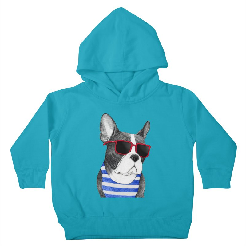 Frenchie Summer Style Kids Toddler Pullover Hoody by Barruf