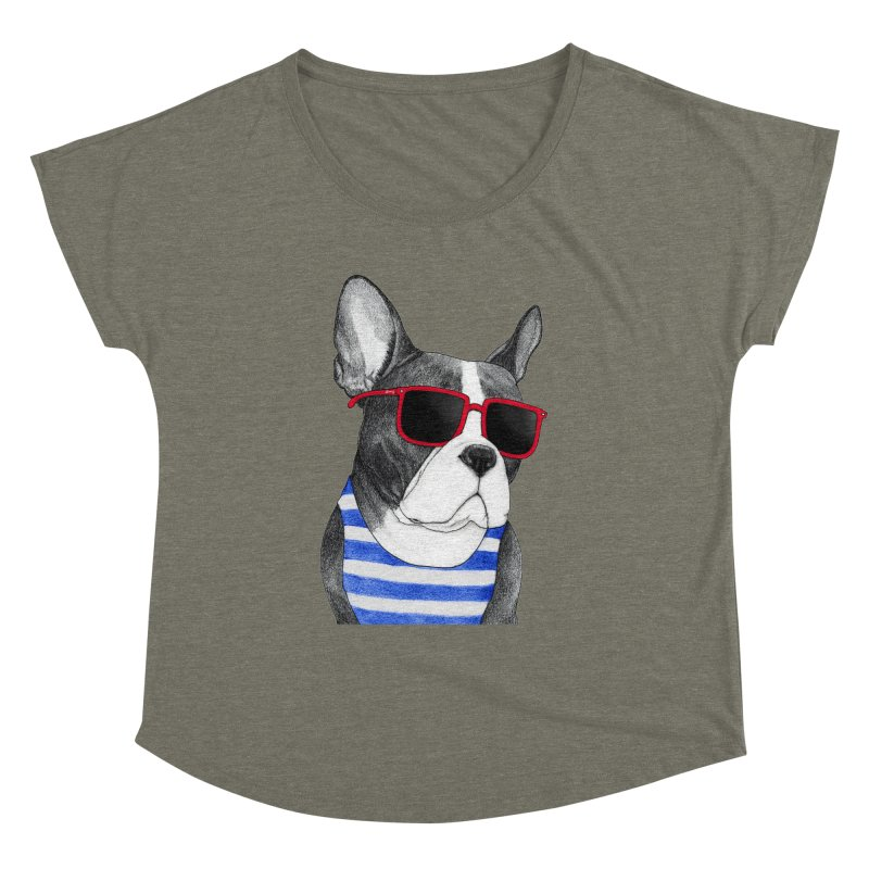 Frenchie Summer Style Women's Dolman Scoop Neck by Barruf