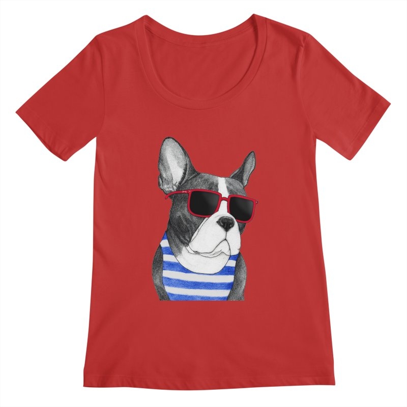 Frenchie Summer Style Women's Regular Scoop Neck by Barruf