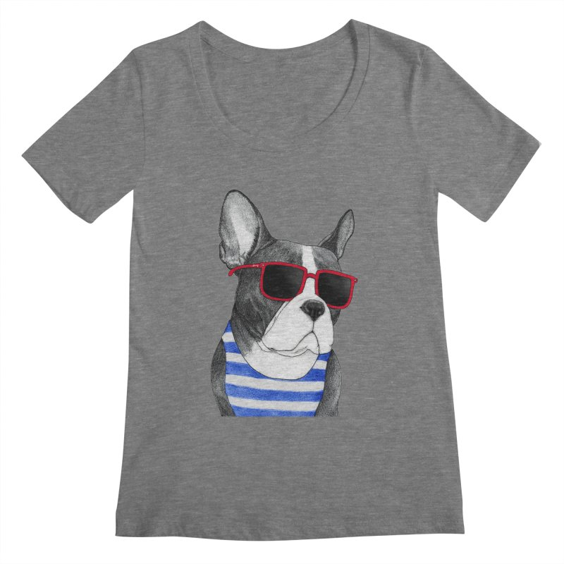 Frenchie Summer Style Women's Scoopneck by Barruf