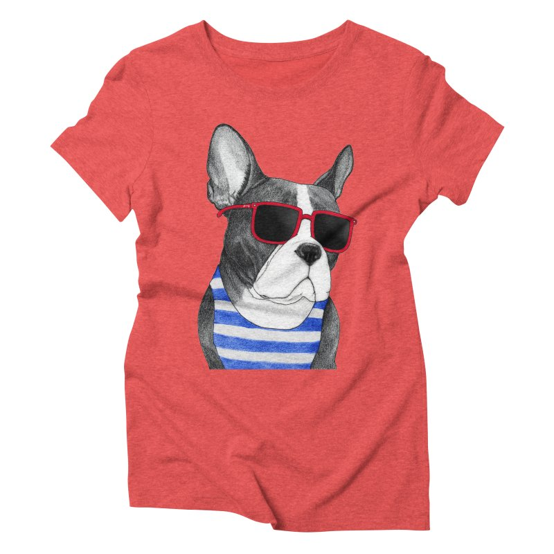 Frenchie Summer Style Women's Triblend T-shirt by Barruf