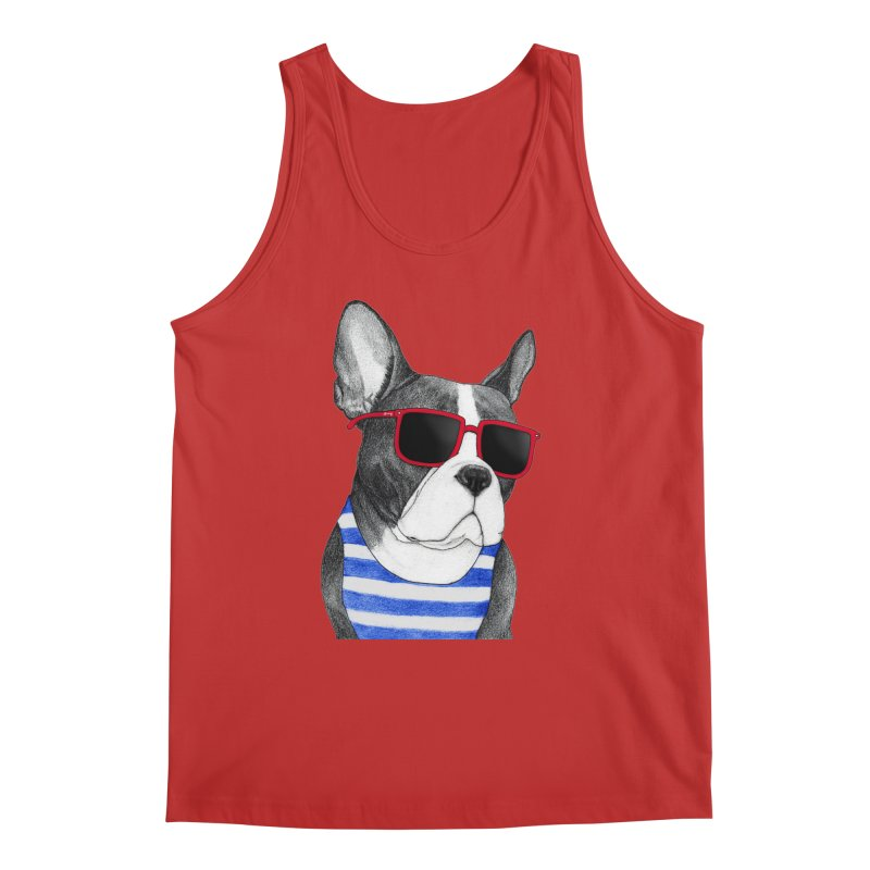 Frenchie Summer Style Men's Regular Tank by Barruf