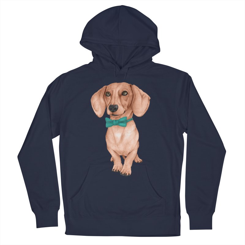 Dachshund, The Wiener Dog Men's Pullover Hoody by Barruf