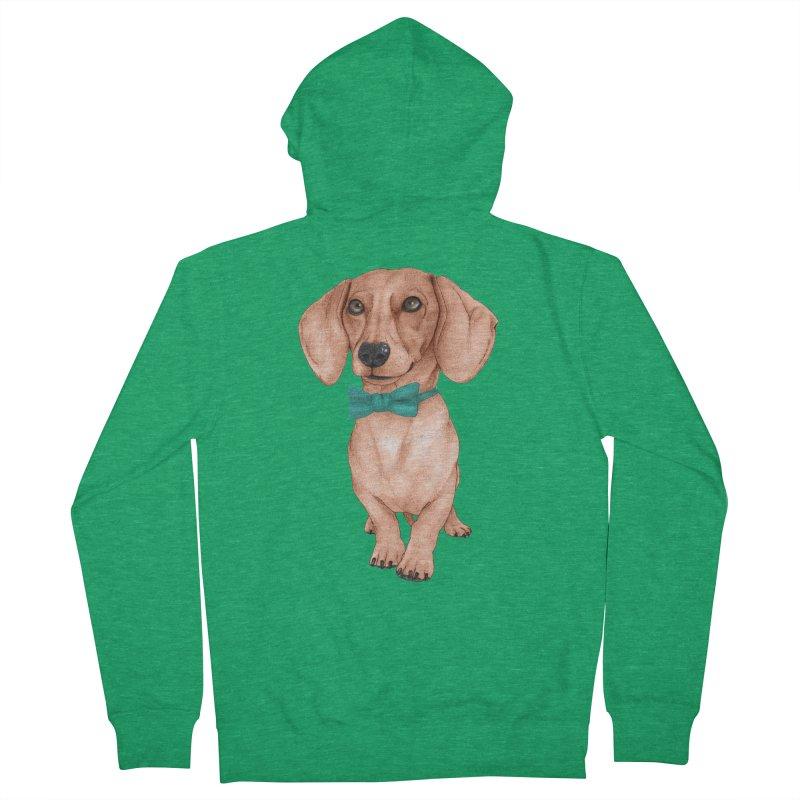 Dachshund, The Wiener Dog Men's Zip-Up Hoody by Barruf
