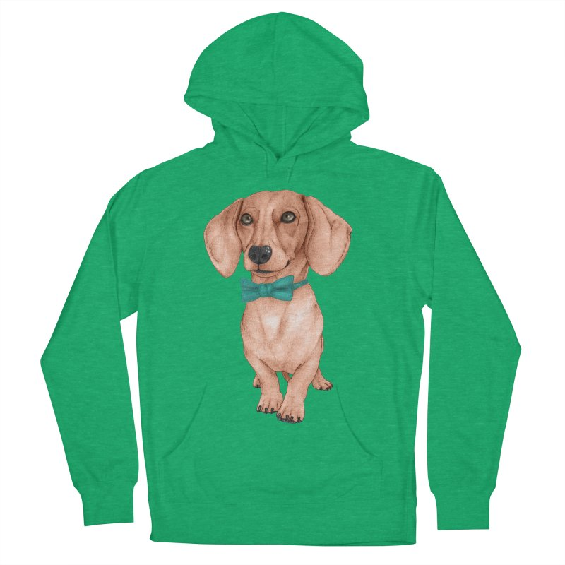 Dachshund, The Wiener Dog Women's French Terry Pullover Hoody by Barruf