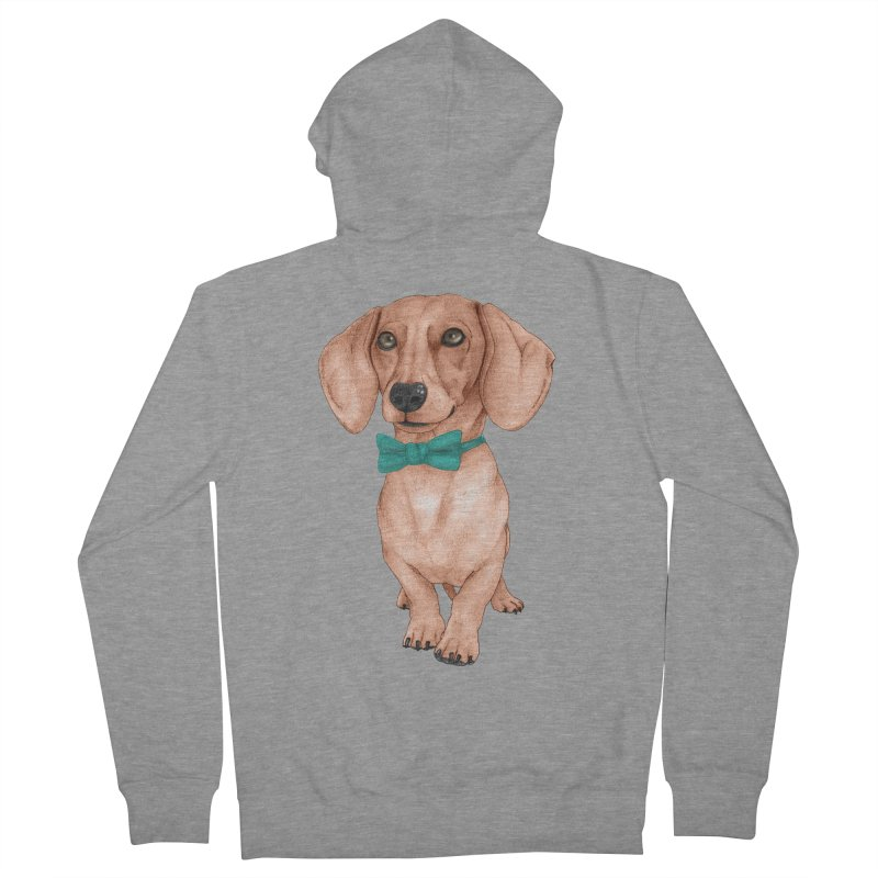 Dachshund, The Wiener Dog Women's French Terry Zip-Up Hoody by Barruf