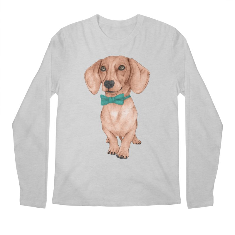 Dachshund, The Wiener Dog Men's Regular Longsleeve T-Shirt by Barruf