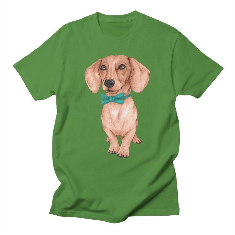 Dachshund, The Wiener Dog Men's Regular T-Shirt by Barruf