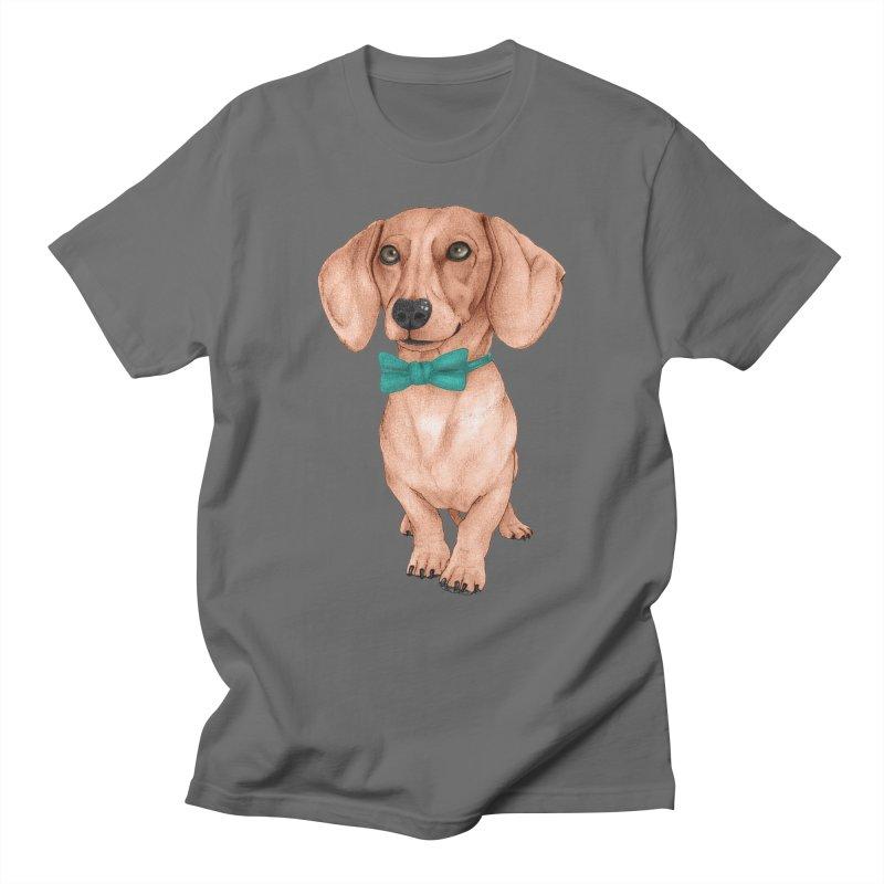 Dachshund, The Wiener Dog Men's T-Shirt by Barruf
